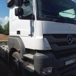 После кузовного ремонта кабины тягача Mercedes-Benz