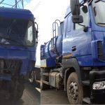 Кузовной ремонт МАЗ до и после ремонта