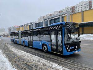 Новый сочленённый автобус КАМАЗ проходит испытания